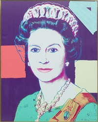 reigning queens: queen elisabeth ii of the united kingdom by andy warhol