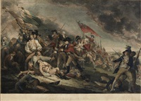 the battle of bunker's hill, near boston (after john trumbull) by johann gotthard von müller