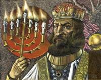 king holding candelabrum by siegfried gerhard reinhardt