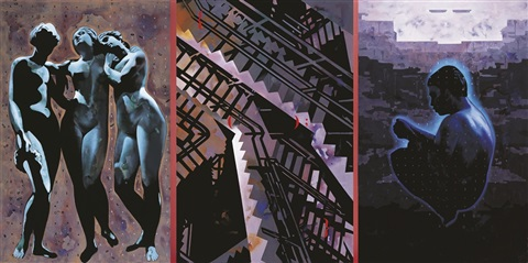 template, plato's cave 2 (triptych) by baiju parthan
