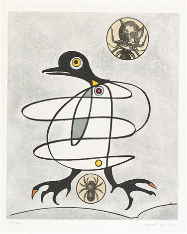 oiseaux en peril set of 8 by max ernst