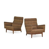 lounge chairs (pair) by jens risom