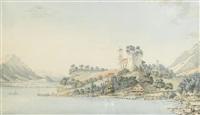 des ruines du chateau de riggenberg contre le couchant by niclaus gachet