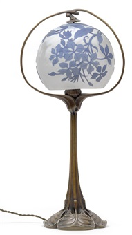 tischlampe by emile galle and edward colonna