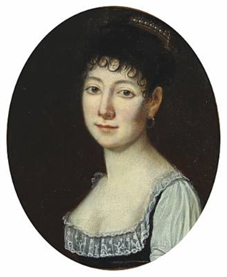 an elegantly preussian lady by karl wilhelm wach