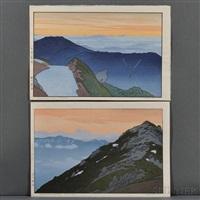 tsubakurodate, morning; tsubakurodate, evening (2 works) by toshi yoshida