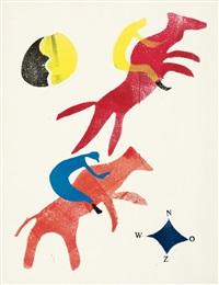 renpaarden (rennpferde) by hendrik nicolaas werkman