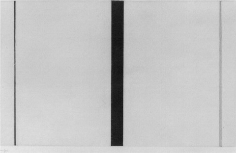 untitled etching 1 by barnett newman