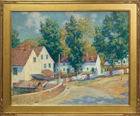 red roofed houses brandywine by william chadwick