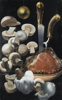 roast and mushrooms by siegfried gerhard reinhardt