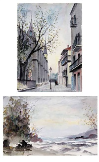 pirate's alley, french quarter (+the shore; 2 works) by nestor fruge