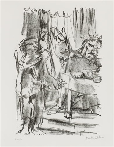 der brief für urias from saul und david by oskar kokoschka