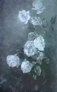 pink roses by agnes middleton raeburn