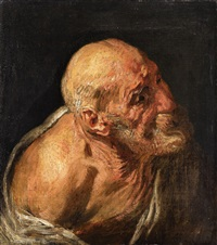 study of an old man by jacob jordaens