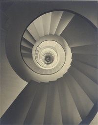upshot of stairway, paris apartment house, architect: mallet-stevens by f. s. lincoln