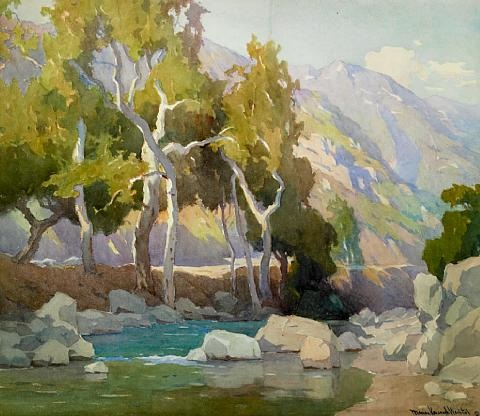 trees and stream by marion kavanaugh wachtel