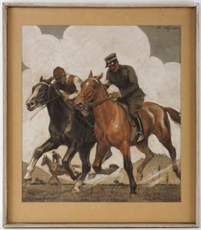 a lentraînement chevaux de course by edouard elzingre