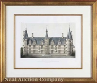 french chateaux (8 works) by victor jean baptiste petit