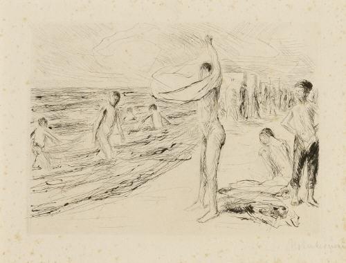 badende knaben im wind by max liebermann