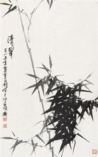 清翠 立轴 水墨纸本 by liu changchao