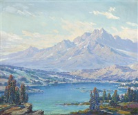 view of mount ritter and the thousand island lakes basin looking east by joseph p. frey