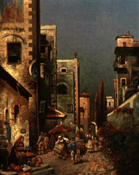 market in florence by j. h. rogan