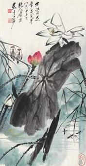 莲花游鱼 by tang yun