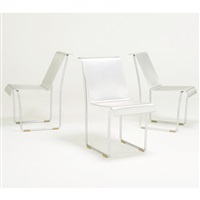 set of three first edition superlight chairs from a series of 500 by frank gehry