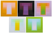 color sounds or hommage to the square (5 works) by karl gerstner