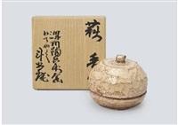 hagi incense container by arakawa toyozo