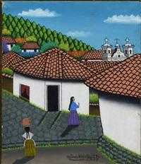Honduran Street Scene w/ Figures, 1977