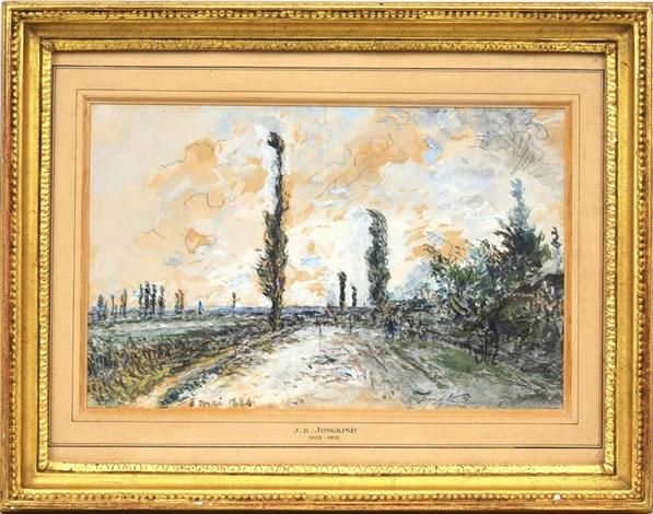 paysage de campagne by johan barthold jongkind