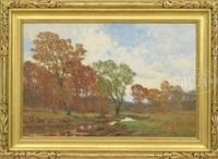autumn stream by william merritt post