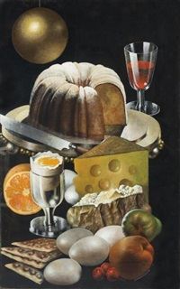 cake, cheese and eggs by siegfried gerhard reinhardt