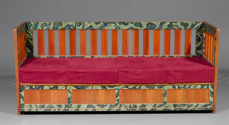 Kanapee Sofa kanapee und 6 stühle set of 7 by wilhelm backlin on artnet