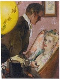 elegant couple courting by leland gustavson