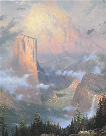 late light yosemite by thomas kinkade