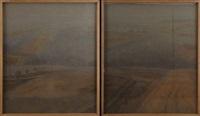 paysages (pair) by boris lejeune