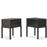 mystere two-drawer nightstands (pair) by christian liaigre