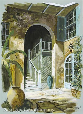 brulatour courtyard by gene eugene daymude