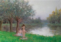 nude bathers by le roux