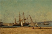 schiffe im hafen by victor de papelen (papeleu)