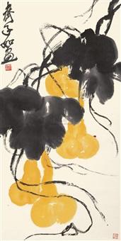 匏瓜图 (gourd) by qi ziru