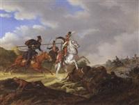 gefecht mit russischen kosaken (donkosaken) by karl friedrich le feubure