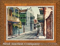 new orleans street scene by rolland harve golden