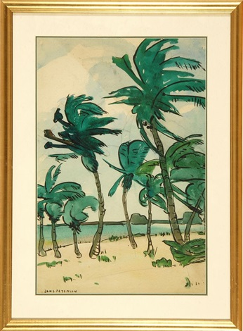 vertical palms by jane peterson