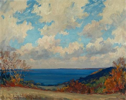 bay of quinte at glenora by manly edward macdonald