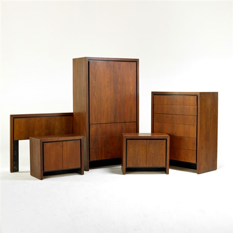 Incroyable Bedroom Set: Armoire, Tall Dresser, Pair Of Nightstands, Headboard (5 Works