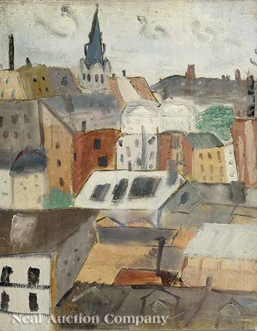 paris rooftops by hazel guggenheim mckinley