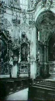 inneres der klosterkirche zu ettal by wilhelm kreling